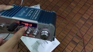 Mở hộp Amply 12v Karaoke  Kentiger HY 803