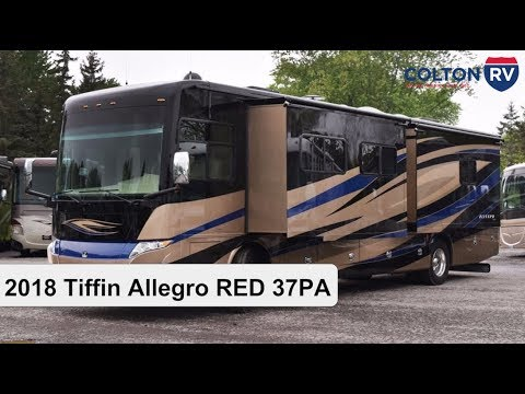 Cool 2018 Tiffin Allegro RED 37PA  Class A Diesel Motorhome