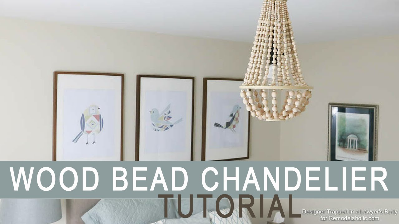Wood bead chandelier tutorial youtube arubaitofo Gallery