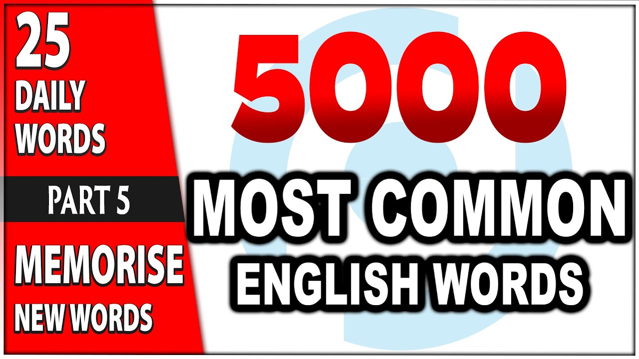 5000 Most Common English Words | PRELEXIS WORDLIST | 25 Daily Words - Part 5
