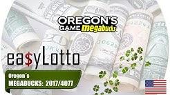MEGABUCKS Oregon numbers 9 Aug 2017