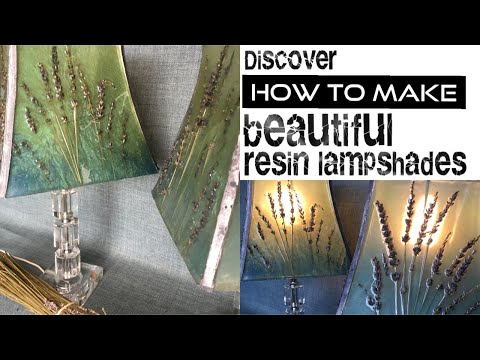 Resin lampshades. How to make them EASILY with dried flowers and epoxy resin.
