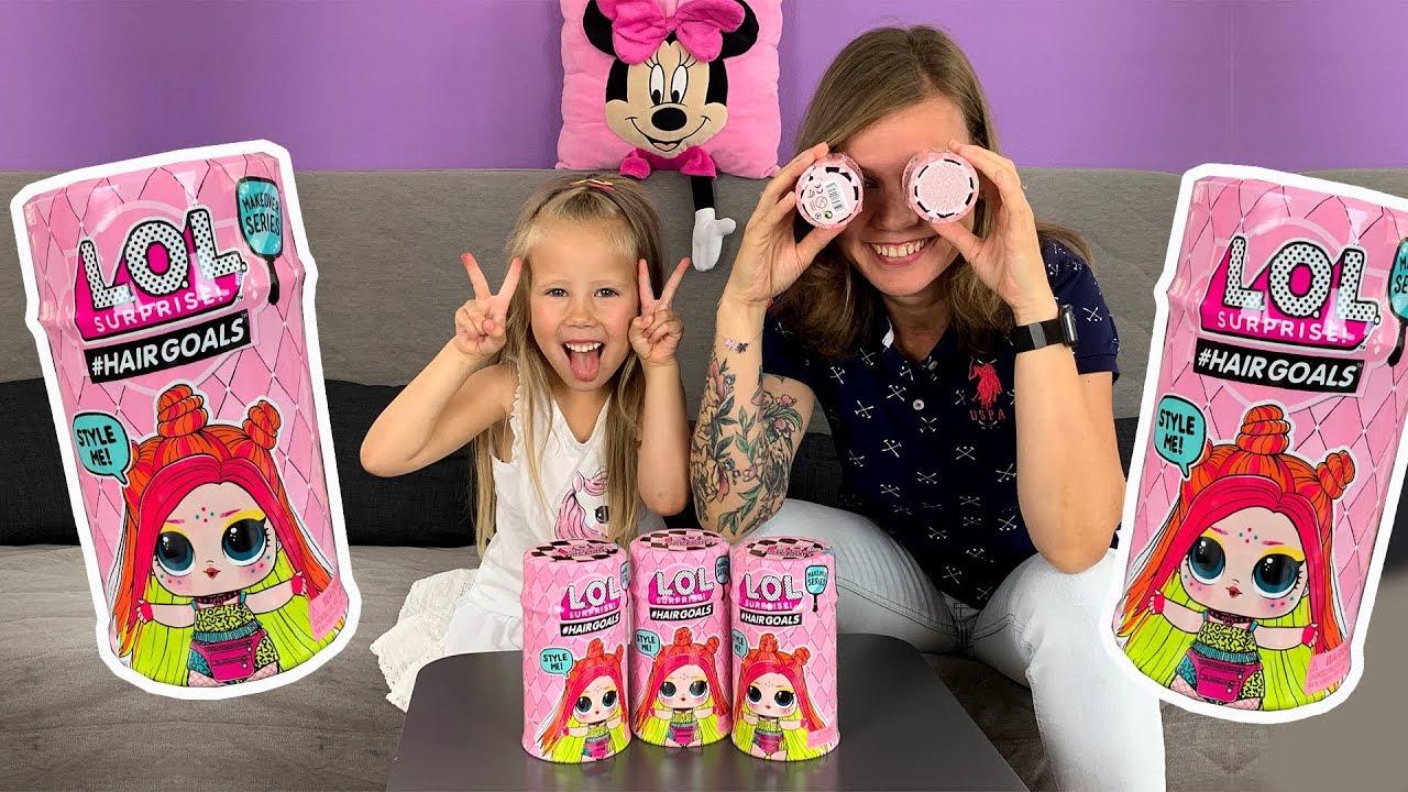 Распаковка новых кукол ЛОЛ! Куклы лол с волосами! - YouTube