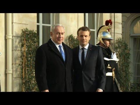 Israeli PM Netanyahu arrives in Paris to meet with Macron