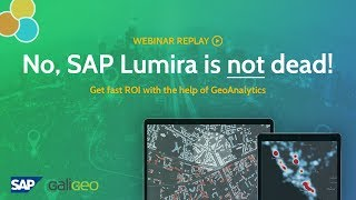 Webinar - No, SAP Lumira is not dead! Oct. 16 2018