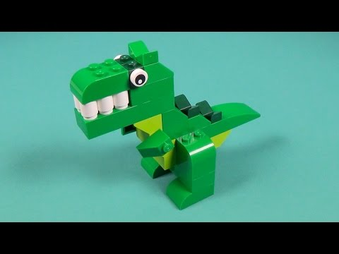How to make a lego dinosaur doovi for Modele maison lego classic