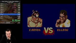 Street Fighter II Turbo: Hyper Fighting Arcade Mode Speedrun in 12:26 (Honda)