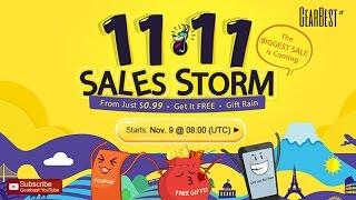 11.11 Sales Storm Is Coming Now! - Gearbest.com