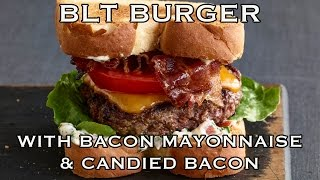 Blt Burgers With Candied Bacon & Bacon Mayonnaise