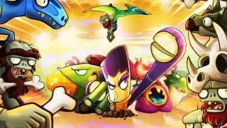 Plants vs Zombies 2: ALL NEW Exclusive Plants Showdown Jurassic World! Chinese Version