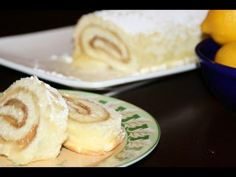 gâteau-roulé-au-citron---lemon-roll-cake---كيك-رولي-الليمون