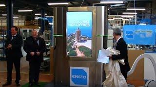 ►Néfiach : Présentation par Ensto de la première borne électrique publicitaire - Le Journal Catalan