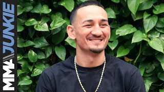 Max Holloway talks to media in Los Angeles for UFC 240 media day