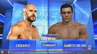 Smackdown June 23 2016 Cesaro Vs Alberto Del Rio WWE 2k16 Full Match Spoilers 720p