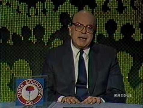 Bettino Craxi leader del PSI: appello agli elettori 1992