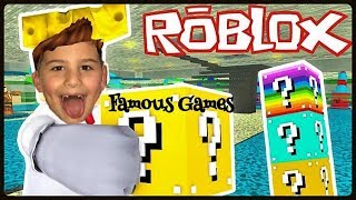 LUCKY BLOCK CHALLENGE ROBLOX ! Famous Games