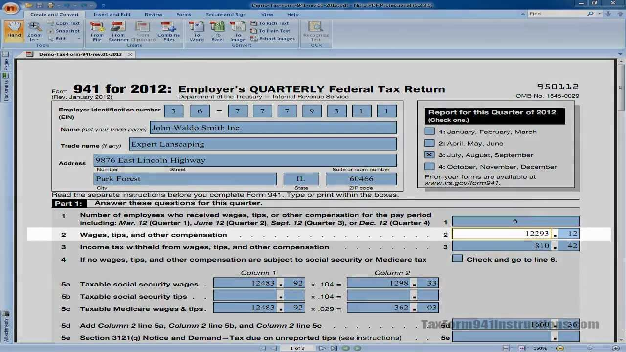 941 form due  Tax Form 16 - Line 16 - Wages, Tips and Other Comp - Video