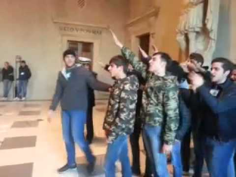Campidoglio, Fronte della Gioventù protesta contro nuovo logo Roma Capitale (video agenzia DIRE)