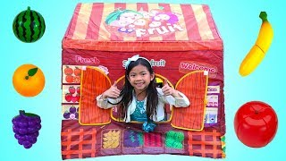 Emma Pretend Play with Fruit Shop Tent Toy
