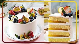 열대 과일 케이크   열대 케이크 꾸미기