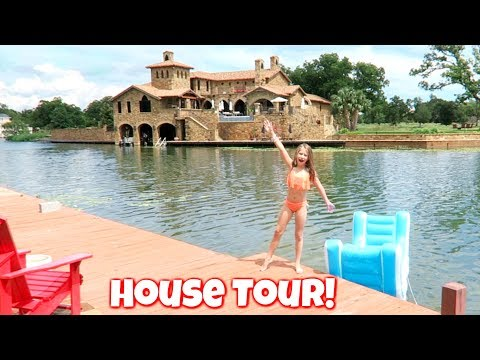 New House Tour Our Summer Vacation Lake House Tour Kids Family Fun