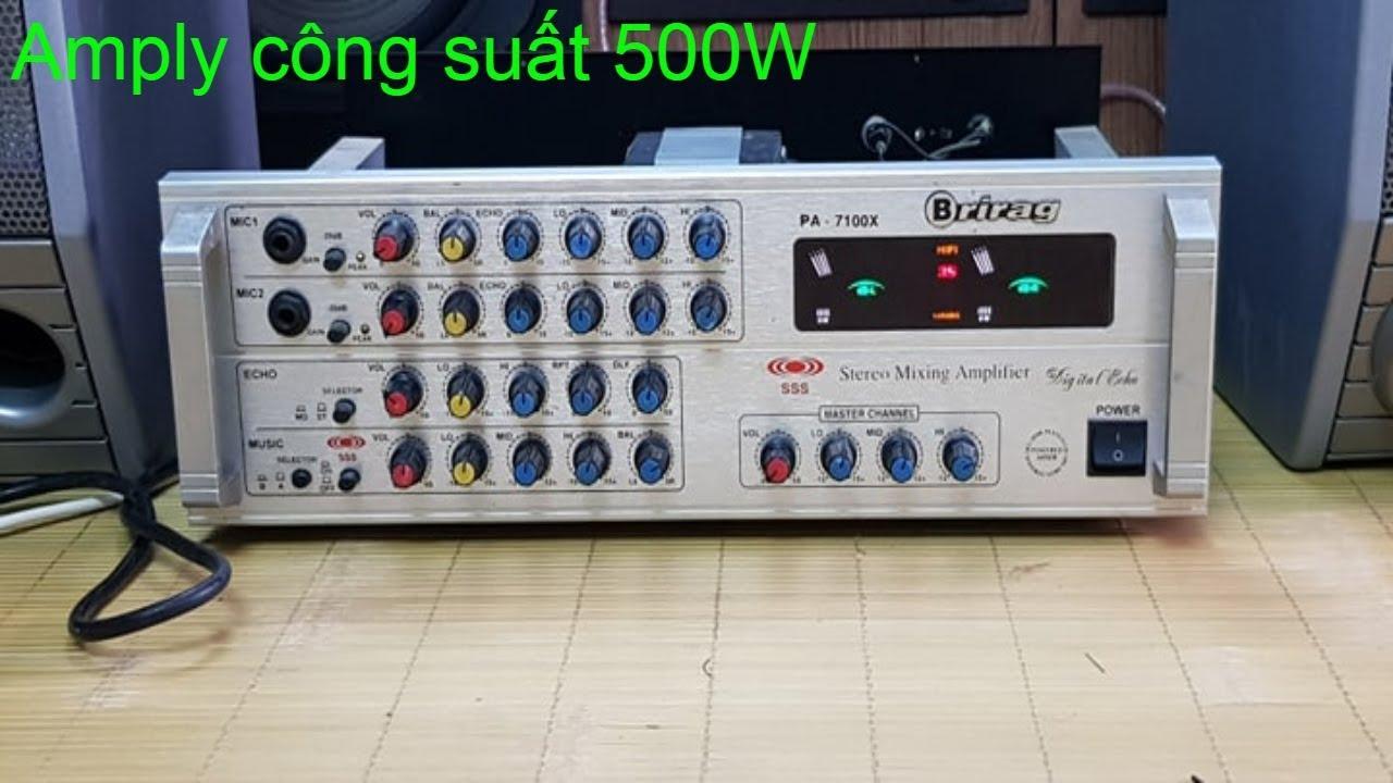 Bán Amply Briang PA 7100X cực khỏe giá 1tr2    0985418496