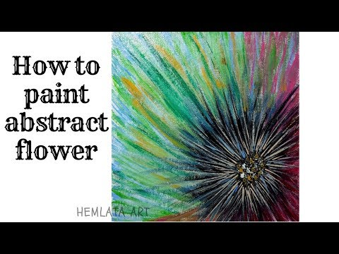 how to paint abstract flowers with acrylics
