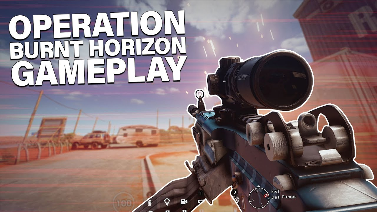 OPERATION BURNT HORIZON GAMEPLAY! - Rainbow Six: Siege Mozzie, Gridlock and  Outback Gameplay