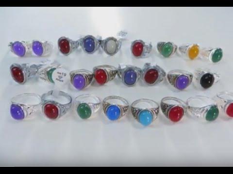 vintage style enamel and imiattion gemstone fashion rings wholesalesarong.com