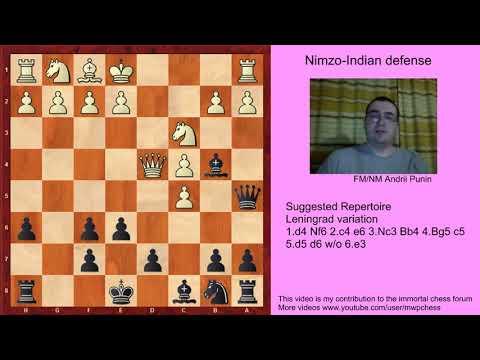 Chess - Nimzo-Indian Defense (for black) - 4.Bg5 c5 5.d5 d6 w/o 6.e3