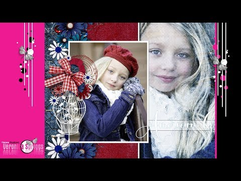 How To Make A Scrapbook Page In Photoshop Elements For Beginners - Digital Scrapbooking Tutorial