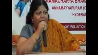 message by dr shobha raju at annamayya swararchana on 23 02 2013