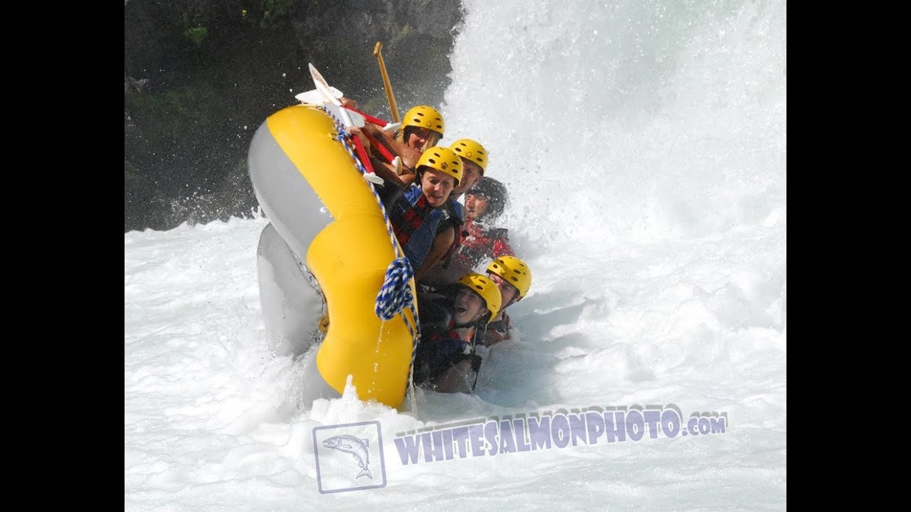 Whitewater rafting carnage on the White Salmon river.