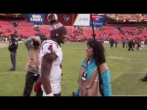 Houston Texans quarterback Deshaun Watson apologies to photographer he unintentionally hit