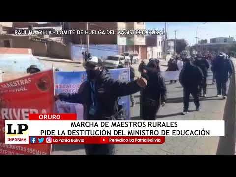 Marcha de maestros rurales pide la desti...