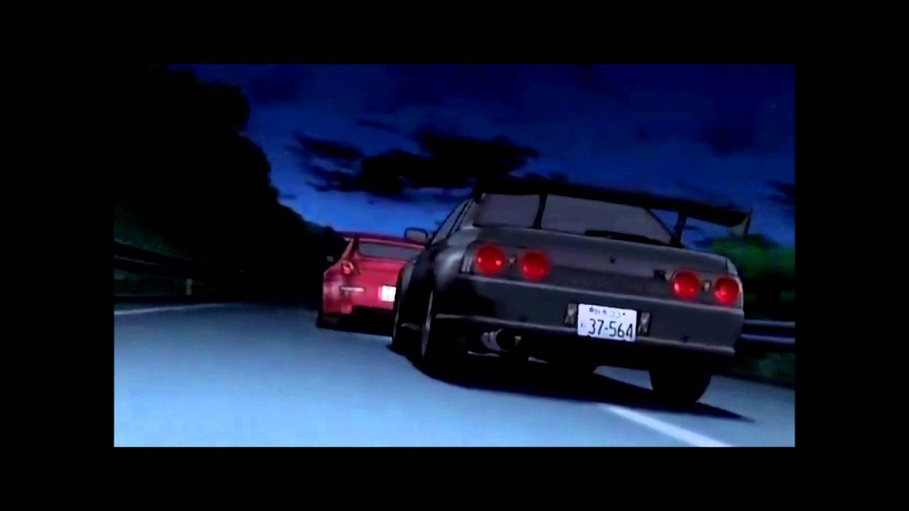 Initial D Fifth Stage Gtr Vs Fairlady Z With No Audio