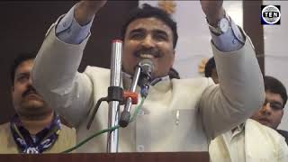 Shamsuddin Raeen BSP West UP Convenor speaks during BSP members convention at Awadh Greens