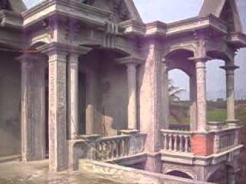 Cầu thang xi măng giả gỗ gia đình nhà ông Chính dài 24m-Nhạo Sơn,Sông lô,Vĩnh Phúc