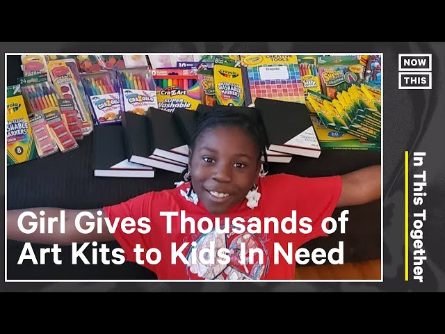 Kid Gifts Art Supplies to Kids in Need, Couple Reunites After COVID | In This Together | NowThis