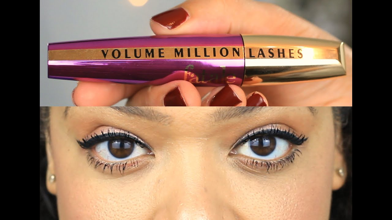 7f37315a363 NEW | L`Oreal Volume Million Lashes Fatale Mascara | Review & Demo ...