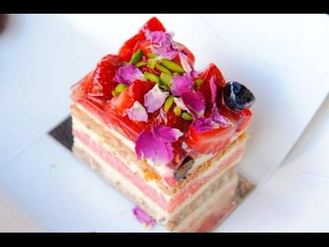 How to make WATERMELON CAKE with Rose cream Black Star Pastry