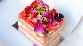 How To Make Watermelon Cake With Rose Cream (black Star Pastry)