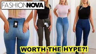Fashion Nova Jeans Worth The Hype Youtube