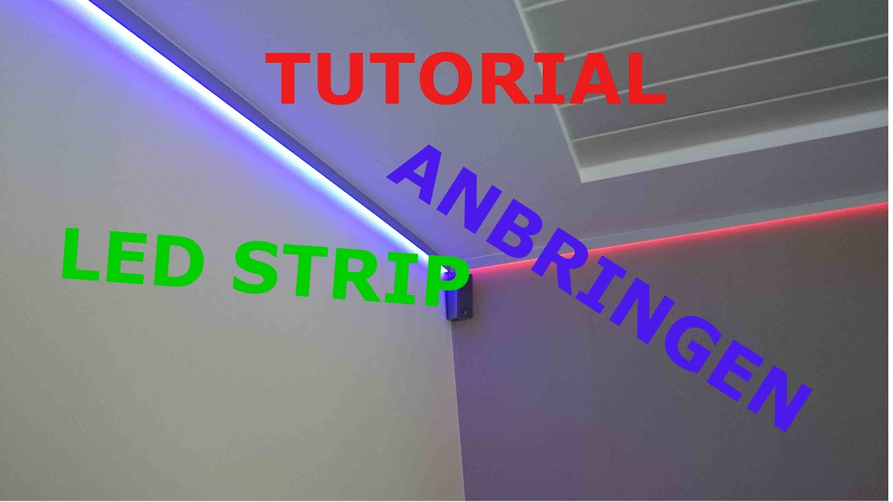 Glas Beleuchtung Led Schiene Tutorial Led Stripes Anbringen