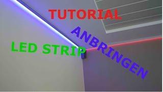 Heute seht ihr wie man LED Stripes mit einem Aluprofil anbringt. De...