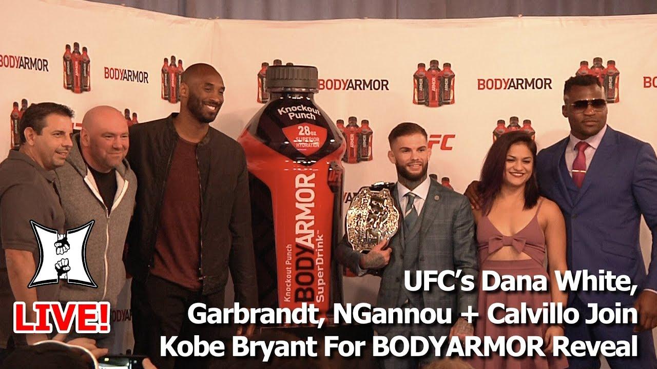 Francis Ngannou Body >> UFC's Dana White, Garbrandt, NGannou + Calvillo Join Kobe Bryant For BODYARMOR Reveal - YouTube
