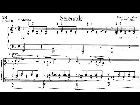 Piano Pieces for Children Grade 3 No.41 Schubert Serenade (P.132) Sheet Music