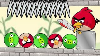 Angry Birds Pigs Out - TRAP ALL ROUND PIG AND THROW THEM OUT FULL!