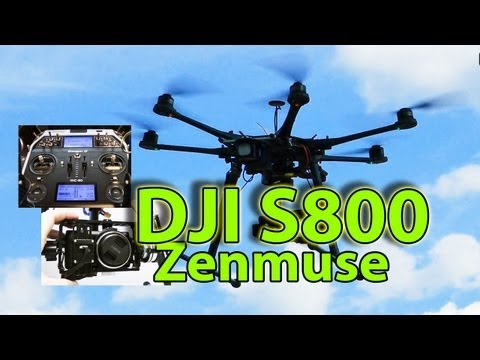 DJI S800 Huge hightech Hexacopter + Zenmuse Z15 brushless Gimbal presented by RCSchim