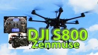 DJI S800 Huge hightech Hexacopter + Zenmuse Z15 brushless Gimbal presented by RCSchim